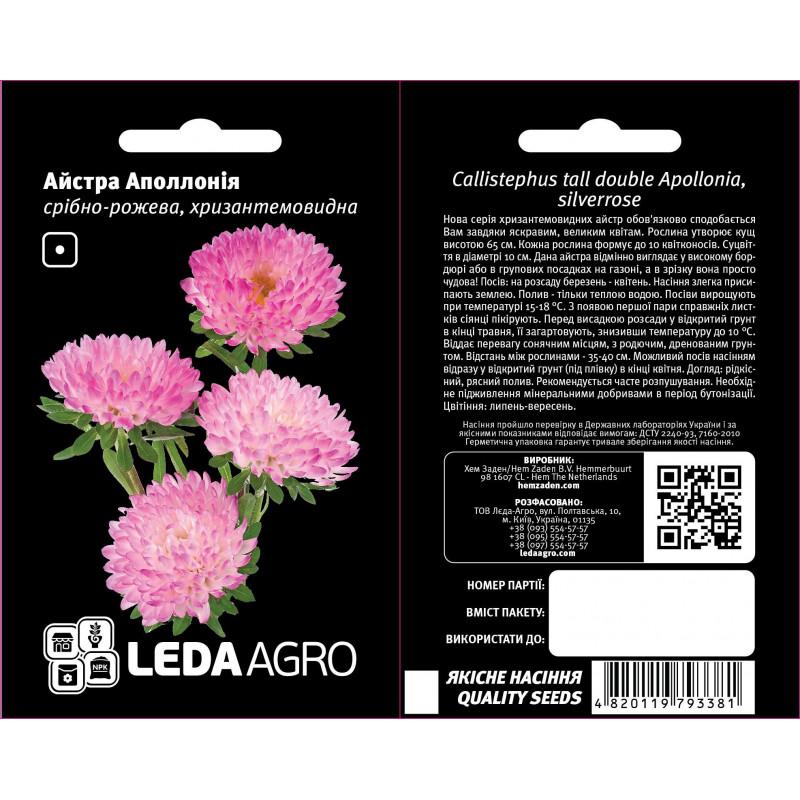 Айстра Аполлония серебрено-розовая Aystra Apollonia serebreno-rozovaya