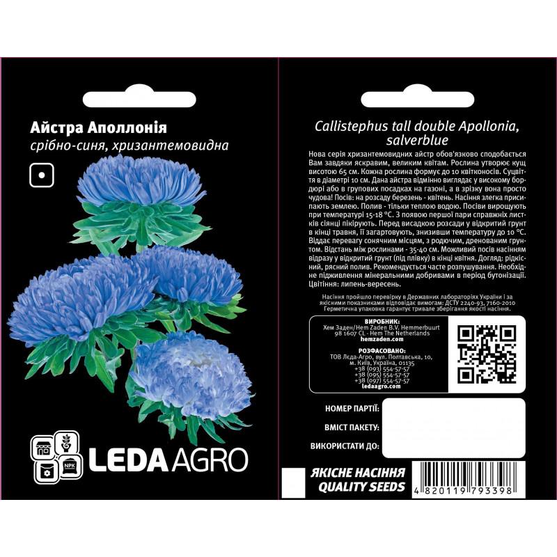 Айстра Аполлония серебрено-синяя Aystra Apollonia serebreno-sinyaya