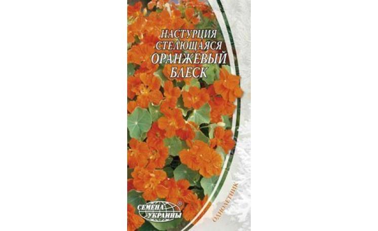 Настурция стелющаяся Оранжевый блеск Семена Украины