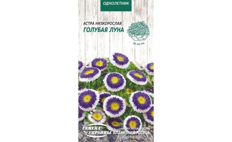 Астра низкорослая Голубой месяц Семена Украины