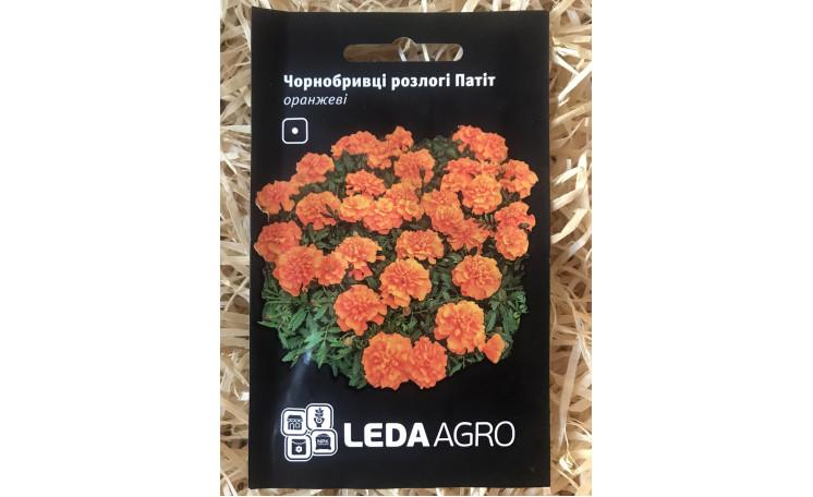 Бархатцы раскидистые Патит оранжевые Leda Agro
