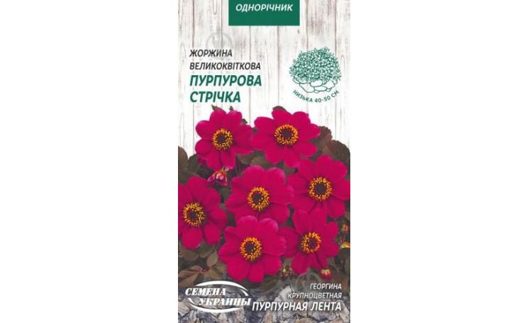 Георгина крупноцветная Пурпурная лента Семена Украины