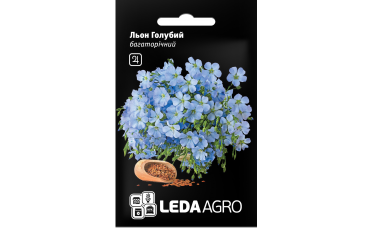 Лен голубой Leda Agro