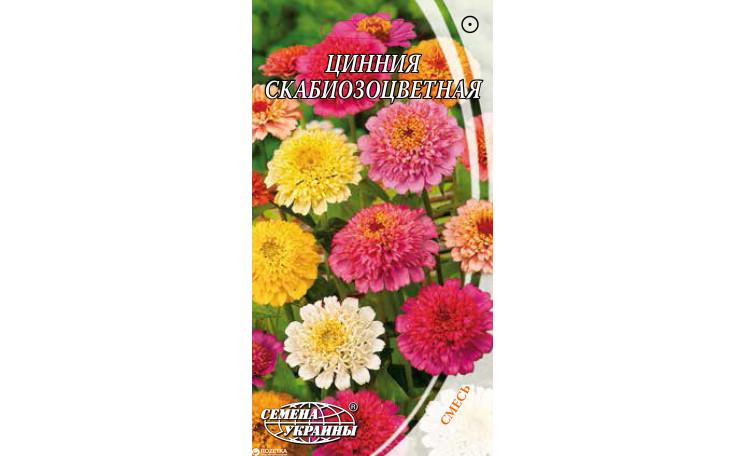 Цинния скабиозоцветная смесь Семена Украины