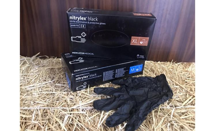 Перчатки медицинские резиновые Nitrylex black