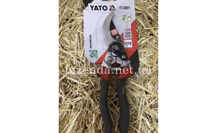 Секатор 220 мм. косой срез YT-8801 YATO