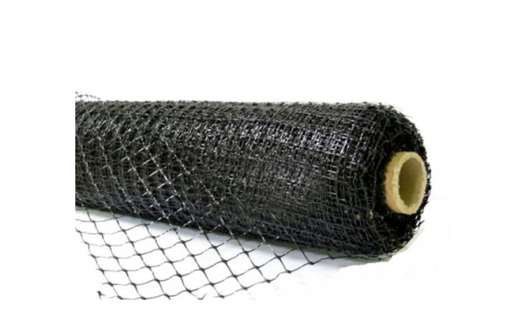 Сетка вольерная черная повышенной плотности ячейка 22 х 22 мм. (Китай)