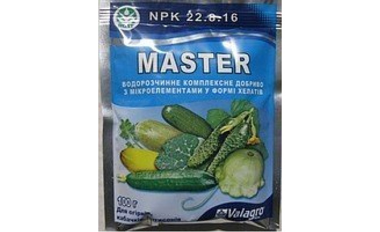 Мастер 22-8-16 Для огурцов кабачков, патиссонов Удобрение