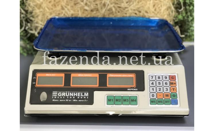 Весы торговые 50 кг. GSC-052 Grunhelm