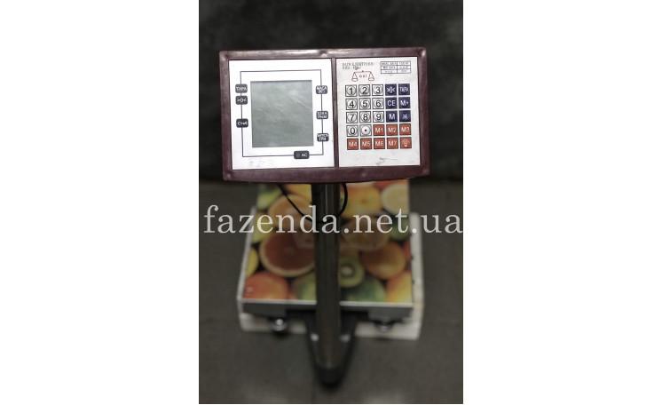 Весы напольные торговые НПВ-150 150 кг. со стойкой Окси