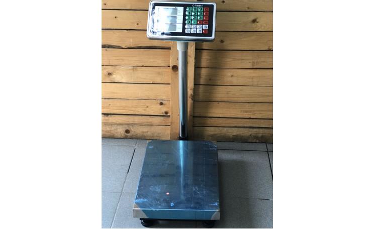 Весы напольные торговые 150 кг. со стойкой Олимп